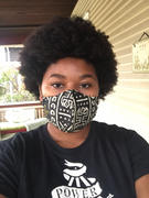 D'IYANU Dabo African Print 2 Layer Reusable Face Mask (Black White Tribal) Review