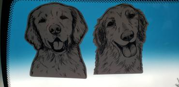 Inkopious Shelby the Golden Retriever - Decal Sticker Review
