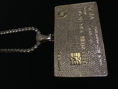 LFYSHOP ICED Bank Card Pendant in White Gold Review