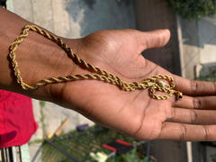 LFYSHOP 4mm Rope Chain in Gold Review