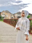 ARTIZARA.COM Formal Silk Wrap Hijab with Sequins - Off White Review