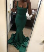 Moda Glam Boutique Adriana Mermaid Gown with Train- Emerald Review