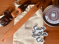 Cave Leather Co. The Malcolm Keychain in Wickett and Craig Russet Harness Review