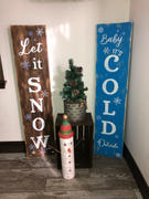 Essential Stencil Baby It's Cold Outside 4ft Vertical Stencil Review