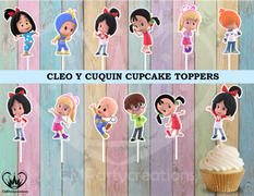 cmpartycreations Cleo & Cuquin Birthday Party Cupcake Toppers Review