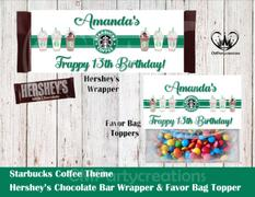 cmpartycreations Starbucks Hershey's Wrapper and Favor Bag Toppers Review