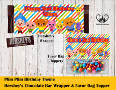 cmpartycreations Plim Plim Hershey's Wrapper and Favor Bag Toppers Review