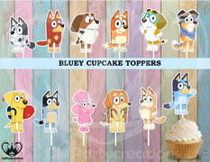 cmpartycreations Bluey Birthday Party Cupcake Toppers Review