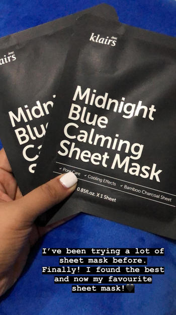 Go Bloom & Glow Midnight Blue Calming Sheet Mask Review