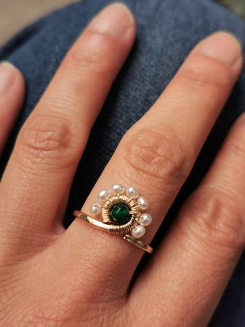 Lisa Ing Pearls and Green Agate Peacock Ring Review
