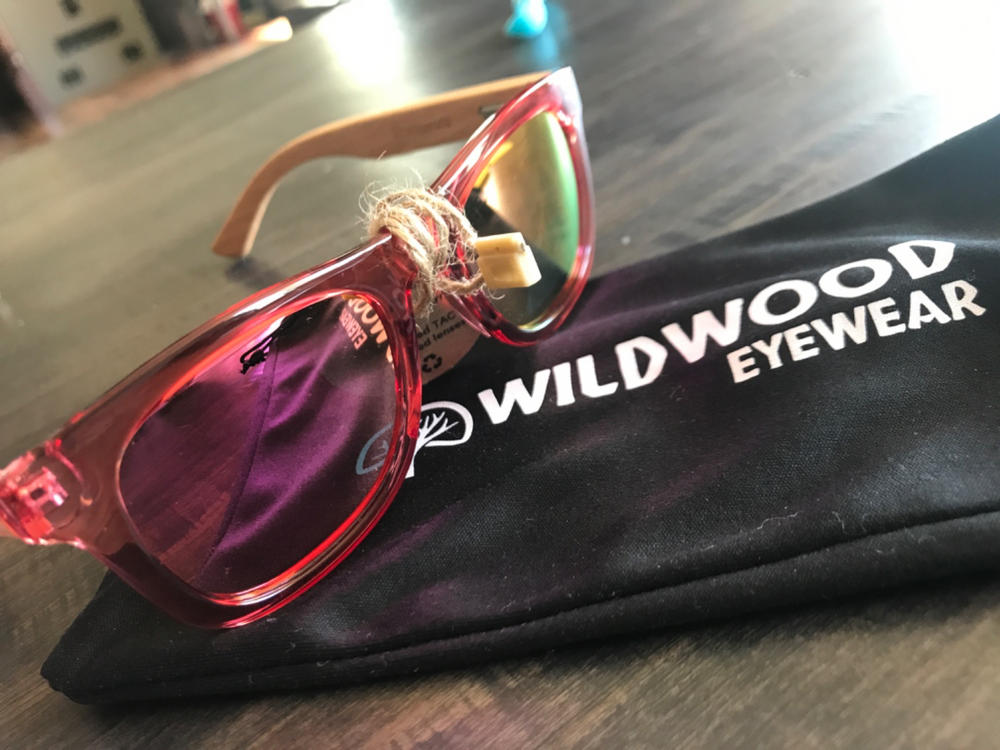 Wildwood Kids Wayfarer Bamboo Wooden Polarized Sunglasses Ages 6 to 12