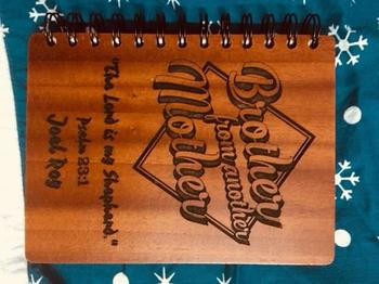 Woodgeek store Brother from another mother - Personalized Wooden Notebook Review