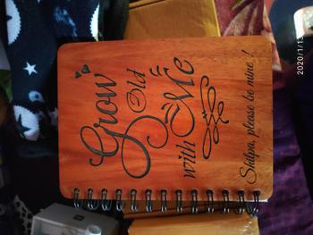Woodgeek store Grow old with me - Personalized Wooden Notebook Review
