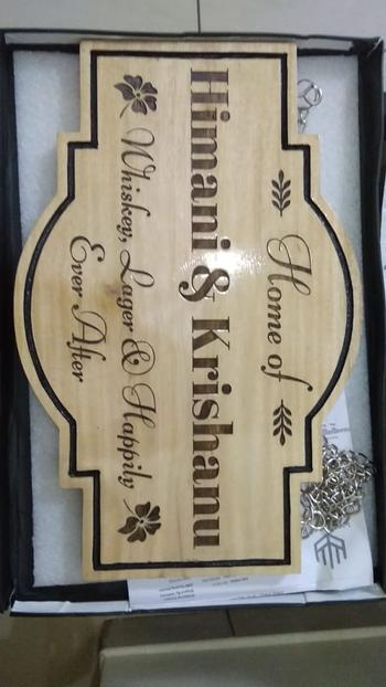 Woodgeek store Personalized Home Sign for Couples - Hanging Wooden Sign Review