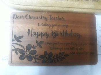 Woodgeek store World's Greatest Teacher Wooden Award Plaque Review