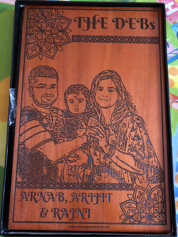 Woodgeek store Family Name Custom Engraved Wooden Frame Review