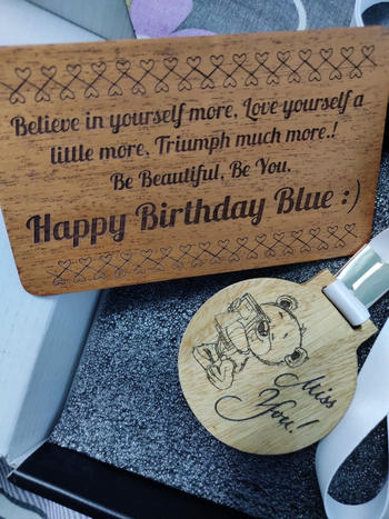 Woodgeek store Custom Medals As Birthday Gifts For Her Customised With A Birthday Message Review