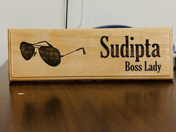 Woodgeek store Personalized Wooden Nameplate for Founder Or CEO Review