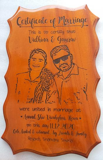 Woodgeek store Photo Engraved Wooden Marriage Certificate Review