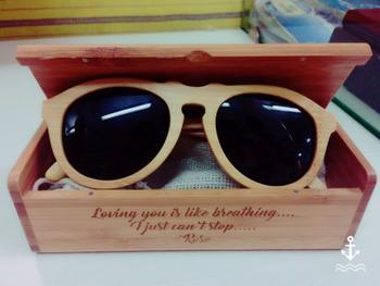 Woodgeek store The Retro - brown bamboo wood round sunglasses Review
