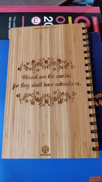 Woodgeek store Oh! The places you'll go - bamboo wood notebook Review