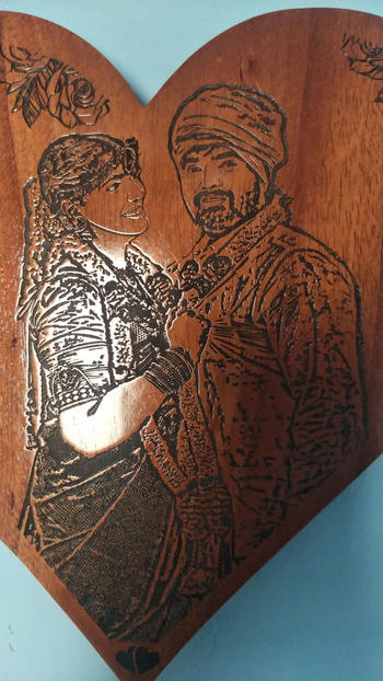 Woodgeek store You Complete Me Custom Engraved Wooden Frame Review