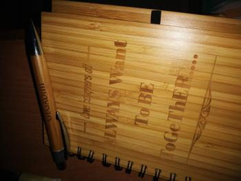 Woodgeek store Amor vincit omnia: Love conquers all - Personalized Wooden Notebook Review