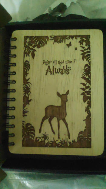 Woodgeek store After All This Time? Always - Personalized Wooden Notebook Review