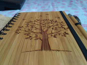 Woodgeek store Autumn Tree - Personalized Wooden Notebook Review