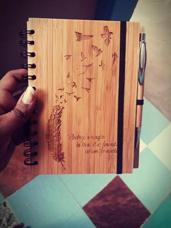 Woodgeek store Birds of a Feather - Personalized Wooden Notebook Review