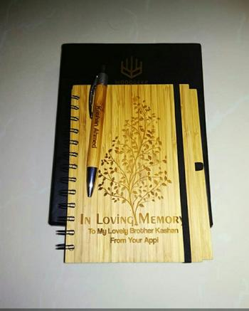 Woodgeek store The Last Leaf - bamboo wood notebook Review