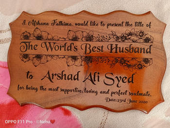 Woodgeek store Personalized World's Best Husband Wooden Certificate Review