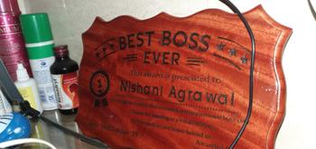 Woodgeek store Personalized Best Boss Ever Wooden Certificate Review