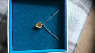 Charlotte Lowe Jewellery Heart Necklace with Golden Centre Review