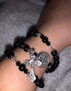 Christian Catholic Shop Black St. Benedict Full 5 Decade Rosary Bracelet Review