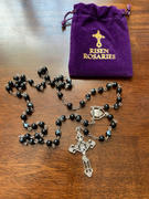 Christian Catholic Shop Black Sacred Heart Of Jesus Rosary Review