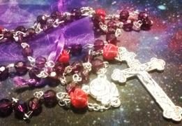 Christian Catholic Shop Amethyst Purple Red Rose Rosary Review