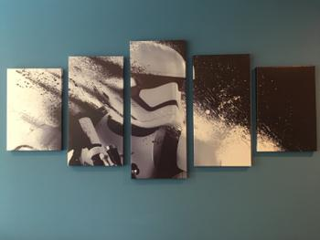 Panel Wall Art Star Wars White Troopers in Action  - panelwallart.com Review