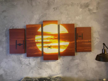 Panel Wall Art Star Wars Tie Fighters at Sunset | Panel Wall Art- panelwallart.com Review