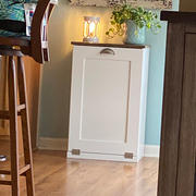 Lovemade14 Single tilt out trash bin in white with stained top-more colors! (S-W-Esp) Review