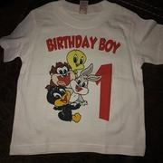 cuztomthreadz Personalized Baby Looney Tunes Birthday Shirt Review