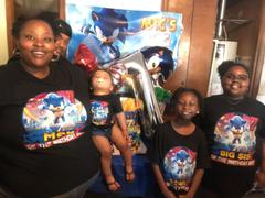 cuztomthreadz Matching Family Personalized Sonic the Hedgehog Birthday Shirt Review