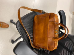 Vintage Rebellion European Style Tanned Italian Leather 15 Laptop Briefcase Review