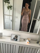 Oh Hello Clothing Glamour Girl Glitter Gown Rose Gold Review