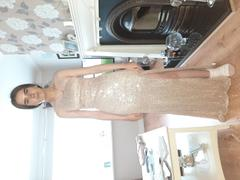 Oh Hello Clothing Monroe Maxi Dress Gold Sequin Review