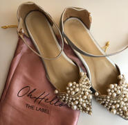 Oh Hello Clothing Catherine Pearl Embellished Flats Silver Review