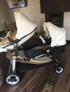 T A Y Online Store Semaco Brand Luxury Leather Double Twin Stroller With Convertible Bassinet For Infant And Toddler Review
