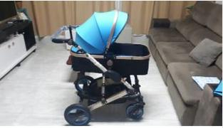 T A Y Online Store Luxury Newborn Baby Foldable Anti-shock High View Carriage Infant Stroller Pushchair - Blue Review