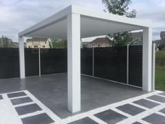 Peaceful Patios Modern Fiberglass Pergola with Fixed Louvers Review