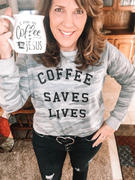Closet Candy Boutique Coffee Saves Lives Camo Sweatshirt - Heather Grey Review